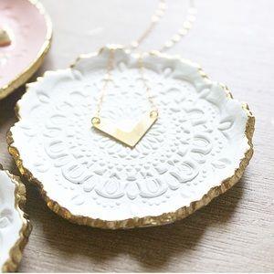 Boho Minimal Chevron Gold Filled Necklace